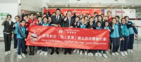 Hong Kong Airlines launches the 6th Triumph Sky High Junior Programme